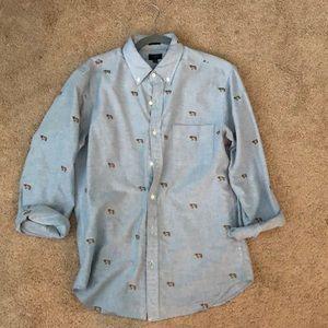 J Crew Dog Shirt
